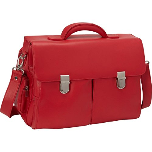 Royce Leather Unisex Cosmopolitan Laptop Briefcase,Red,One ()