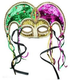 New Orleans Carnival Mardi Gras Face Eye Mask