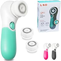 LAVO Giro Facial Cleansing Brush w/ 2 Brush Heads and Stand - Green