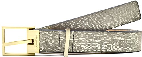 Calvin Klein Women's Metallic Exotic Embossed Belt X-large Gold Calvin Klein Embossed Belt