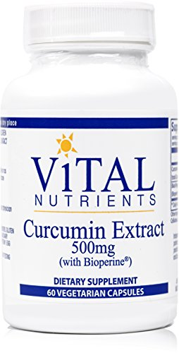 Vital Nutrients - Curcumin Extract 500 mg (with Bioperine) - Nutritional Support for Normal Tissue Health - 60 Capsules