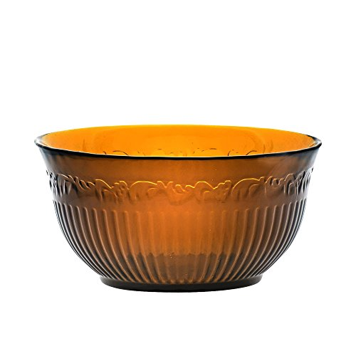 Mikasa Italian Countryside Amber Glass Soup/Cereal Bowl (24-Ounce) ()