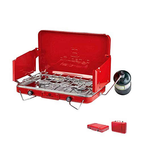 Outbound Camping Stove | Portable Propane Gas Stove 2 Burners | Perfect Camp Stove for Backpacking, Camping, Fishing, and Outdoor Cooking ()