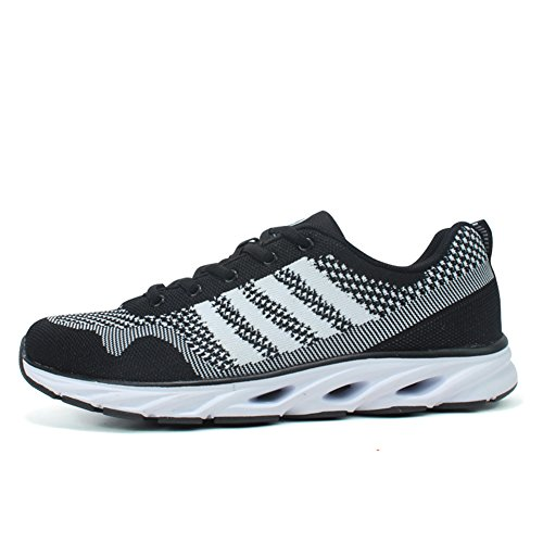 Gym Running Walking Trainers Beatheable Shoes Air Black Mesh Sneakers Outdoor Sports Men's Lightweight wTq4t