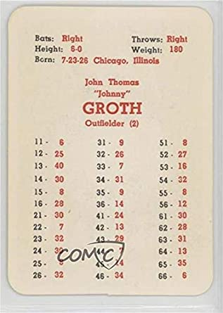Amazoncom Johnny Groth Ungraded Comc Poor To Fair Baseball Card