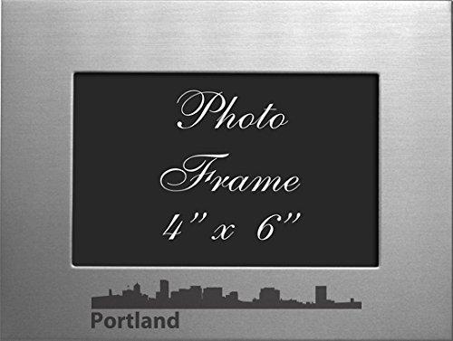 Portland, Oregon-4x6 Brushed Metal Picture - Portland Frames