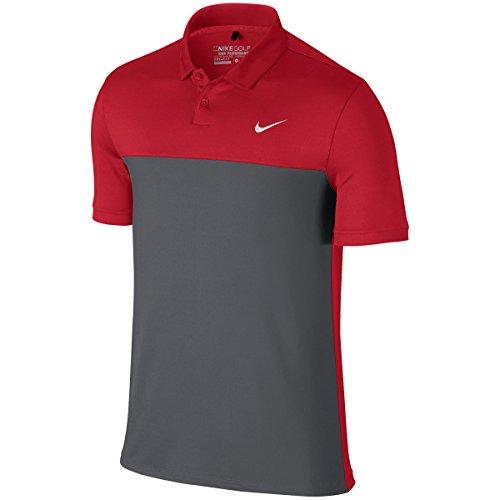 Nike Men's Icon Colour Block Polo Shirt University Red/Dark Grey UzvU1EU