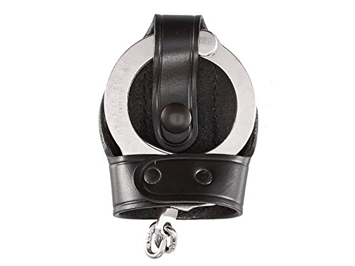 Aker Leather 503 Bikini Handcuff Case, Black, Plain, Fits Most Standard Chain Handcuffs