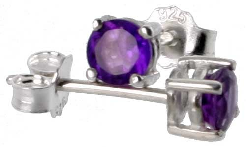 February Birthstone Amethyst Brilliant Silver