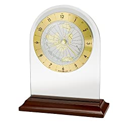 Howard Miller 645-603 World Time Arch Table Clock by