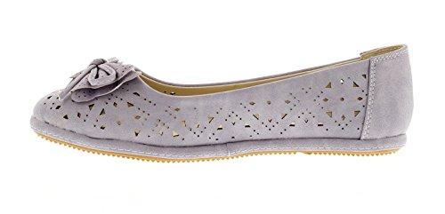 Salón A De Lila Con Zapatos Bailarina Mujer Lazo Estilo Nuevo BqgWn1zW