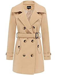 Amazon.com: Beige - Wool & Blends / Wool & Pea Coats: Clothing ...