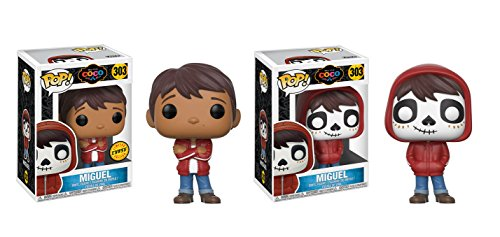 Funko POP! Disney and Pixar Movie COCO Miguel LIMITED EDITION CHASE and Miguel NON CHASE Toy Action Figure - 2 POP BUNDLE