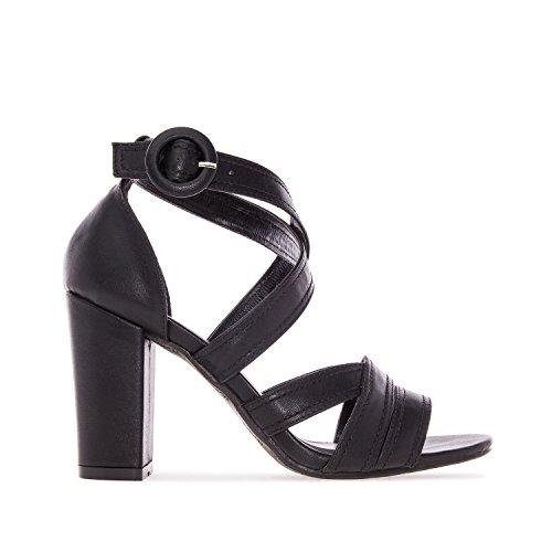 Andres Machado. AM5135.Sandalias en Soft.Mujer.Tallas Pequeñas/Grandes. 32/35-42/45. Negro