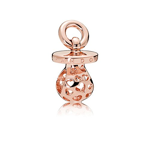 (Pandora Harmonious Heart Pacifier Rose Gold Dangle Charm 787256)