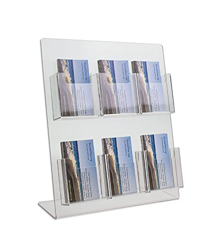 Amazon source one deluxe 2 tier 6 pocket vertical clear source one deluxe 2 tier 6 pocket vertical clear business card holder counter top colourmoves