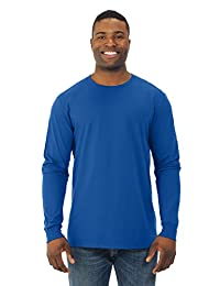 Fruit Of The Loom Mens Sofspun Long Sleeve T-Shirt, JZSFLR, 3XL, Royal