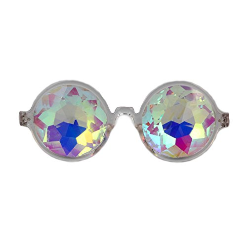 FIRSTLIKE Festive Carnival Kaleidoscope Glasses - Rainbow Prism Diffraction Crystal -