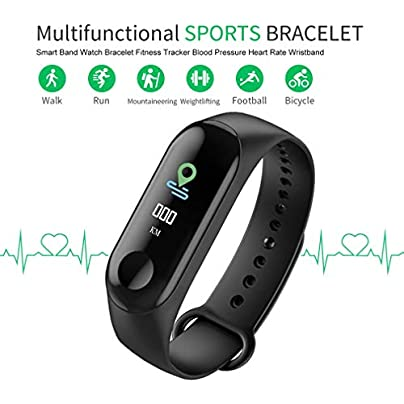 LeobooneSmart Band Watch Bracelet Fitness Tracker Pedometer Blood Pressure Heart Rate Monitor Waterproof Wristband Estimated Price £62.00 -