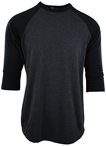 Mens Raglan 3/4 Sleeve Baseball T Shirts (S, ()