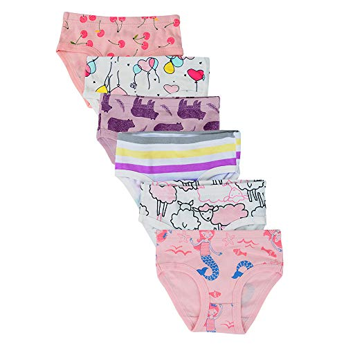 Cotton 134 Cover (Closecret Kids Underwear Soft Cotton Toddler Panties Little Girls' Assorted Briefs(Pack of 6) (Style 5, 5-6 Years))