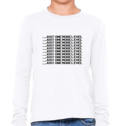Price comparison product image . Just One More Level - Repeating - Video Game Girl's Long Sleeve T-Shirt
