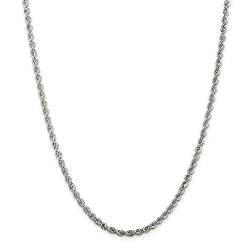 """925 Sterling Silver Polished Twisted 3mm Necklace -10"""" (10in x 3mm)"""