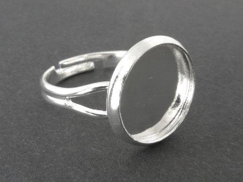 Fingerring / Ringkomponenten für Cabochons 12mm - 5 Stück