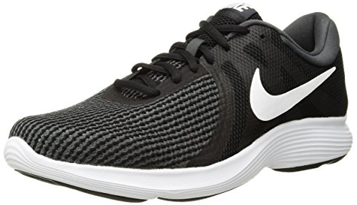 Nike Women's Revolution 4 Running Shoe, Black/White-Anthracite, 8 Regular US