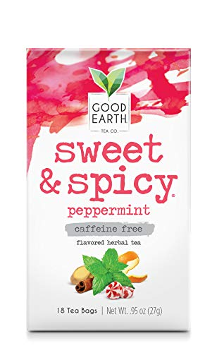 Good Earth Herbal Tea, Sweet & Spicy Peppermint, 18 Tea Bags  (Pack of 6)