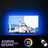 HAMLITE LED TV Backlight 60 65 Inches TV Bias Lighting, Custom USB TV Light Strip to Cover 4/4 Sides of 60 65' TVs...