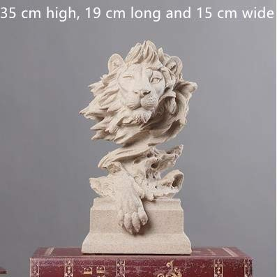 New- Animal Statue Crafts - Nordic Creative Animal Ornaments, Wolves, Lions, Sheep, Cats, Elephants, Hawks, Pigs, Statues, Decorative Crafts - by GTIN - 1 Pcs - Cat Garden Statue (Boy Statue Garden Reading)