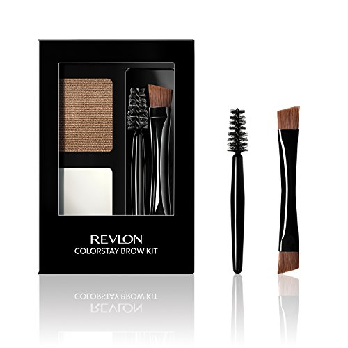 Revlon ColorStay Brow Kit, Includes Longwear Brow Powder, Clear Pomade, Dual-Ended Angled Tip Eyebrow Brush & Spoolie…