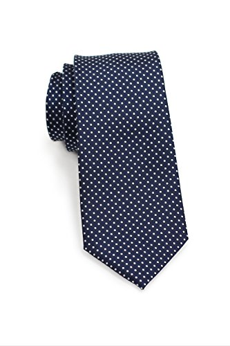 (Bows-N-Ties Men's Necktie Skinny Pin Dot Microfiber Tie 2.75 Inches (Navy Blue))