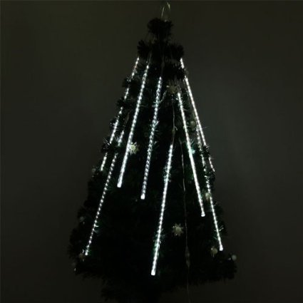 Perfect Holiday, Meteor Shower Rain 240 LED Light 50cm Long Tube String  Lights Decoration Tree