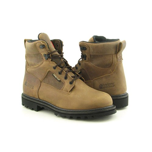 ROCKY 8242 Ranger Mens SZ 8.5 Brown Wide Boots Work Shoes