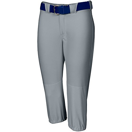 ise Knicker Length Softball Pants Grey Xl (Double Knit Softball Pant)