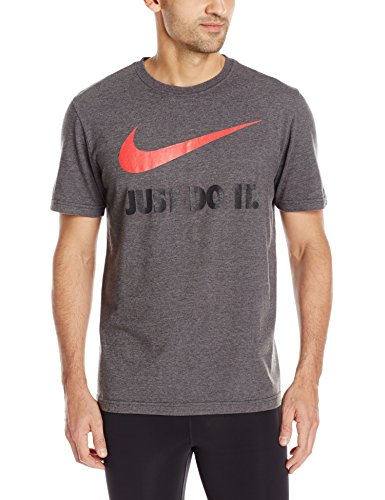 Nike Men's New Just Do IT JDI Swoosh T-Shirt, Charcoal Heather, XL