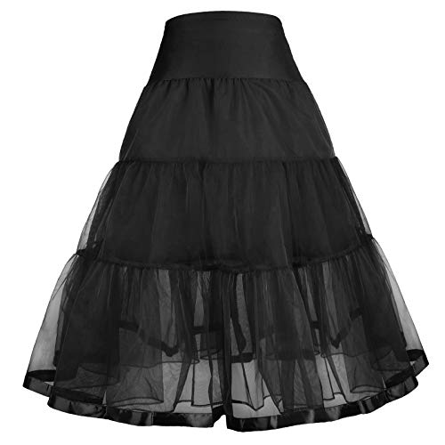 - GRACE KARIN Girls Voile Layered Tutu Ruffle Skirt for Dance 4-5Y CL036-1