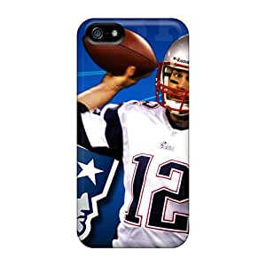 Hard Protect Phone Cases For Iphone 5/5s (smX2564fYaV) Custom Lifelike New England Patriots Skin