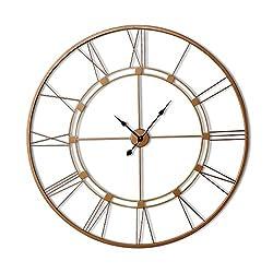 Decorlives 40 inch Copper Color Live Huge Roman Wall Clock Handmade Wall Sculpture Art