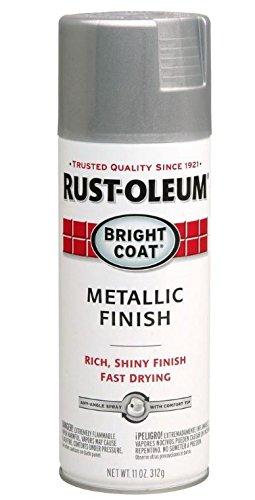 Aluminum Coat - Rust-Oleum Stops Rust Bright Coat Spray 7715830-6 PK Metallic Color 11 Oz, Aluminum, 6 Pack, Aluminium
