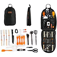 Camping Cooking Utensil Organizer Travel Set: 20 Piece...