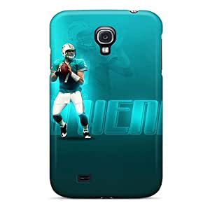 LauraAdamicska Samsung Galaxy S4 Bumper Hard Phone Cover Allow Personal Design Lifelike Miami Dolphins Series [oVh386vzRs]