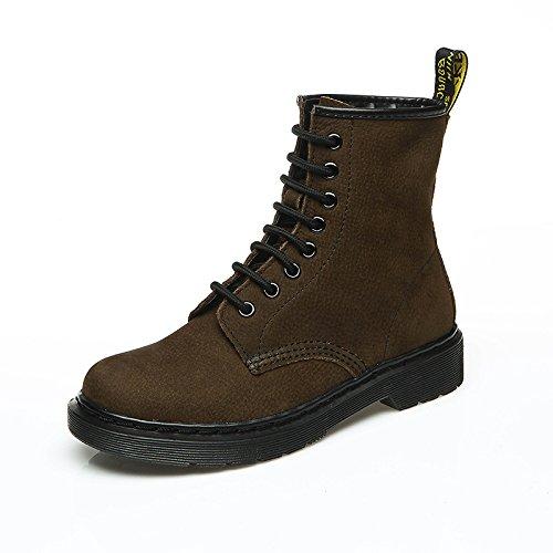 Botas Cortas con tacón Grueso para Mujer Martin, Botines Cortos, de Color Caqui, 35: Amazon.es: Zapatos y complementos