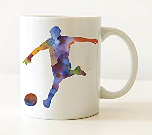Amazon.com & Amazon.com: Soccer Mug - Soccer Player Coffee Mug - 11oz - Unique ...