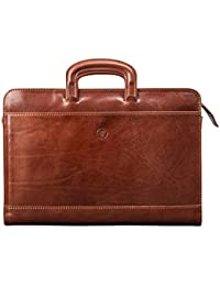 Maxwell Scott Italian Crafted Leather Portfolio - Barolo