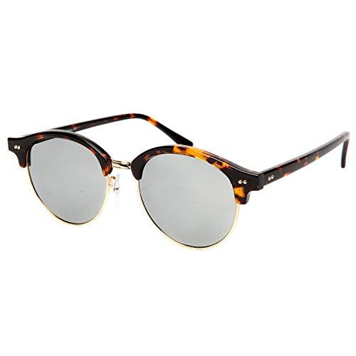 Clubmaster Classic Square Sunglasses Silver Flash Lense - 1
