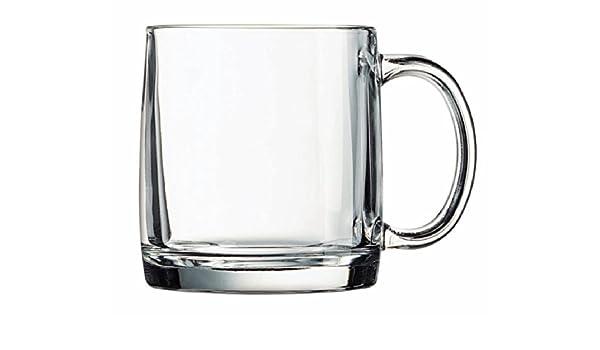 Luminarc Arc International nórdicos taza con definición de café (Juego de 6), 13 oz, transparente: Amazon.es: Hogar