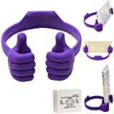 Honsky Cute Fun Thumbs-up Adjustable Flexible Cell Phone Holder Tablet Desk Desktop Stand Cradle for iPad Mini iPhone 7 6 Plus 6s LG Stylo Samsung Galaxy S8 S7 Edge S6 Switch ZTE HTC Motorola, Purple